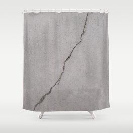 cracked concrete texture - cement stone Shower Curtain