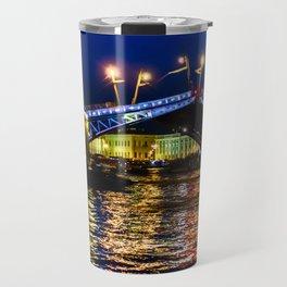 Raising bridges in St. Petersburg Travel Mug