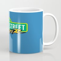 sesame street Mugs featuring Sesame Street Fighter by Franz24