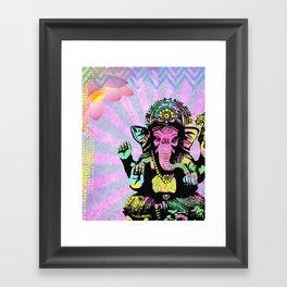 Ganesha Rainbow Framed Art Print
