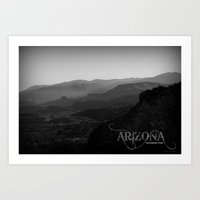 arizona Art Prints featuring Arizona by Warren Benberry Photography / o.d.Imagez