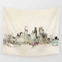 minnesota Wall Tapestries featuring minneapolis minnesota by bri.buckley
