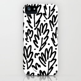 Leafy Doodle iPhone Case