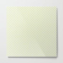 Lime Sherbet Polka Dots Metal Print