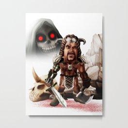 barbarian Metal Print