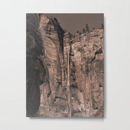 Waterfall Zion National Park Metal Print