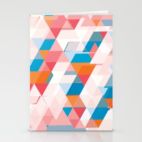 Crumbling triangles Stationery Cards