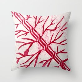 Growth red Throw Pillow