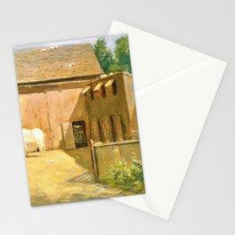 Julian Alden Weir - New England Barnyard - Digital Remastered Edition Stationery Cards
