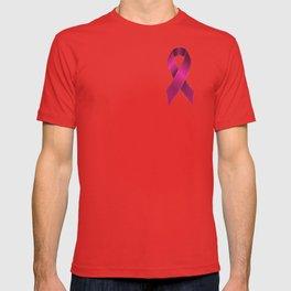 Satin pink ribbon T-shirt