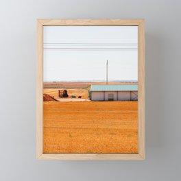 Vintage Beautiful Traditional Farmland. Landscape photography Framed Mini Art Print