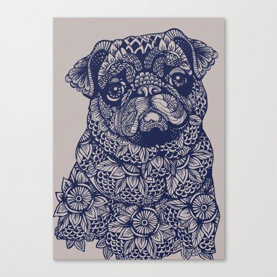 MANDALA OF PUG Canvas Print