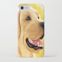 lab iPhone & iPod Cases featuring Yellow Lab by Becky's Digital Art