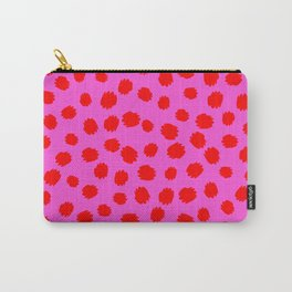 Keep me Wild Animal Print - Pink with Red Spots Carry-All Pouch