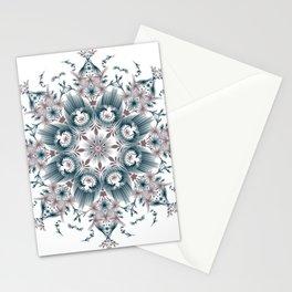 Kat Scratch • Digital Mandela • Dusty Purple & Blue Stationery Cards