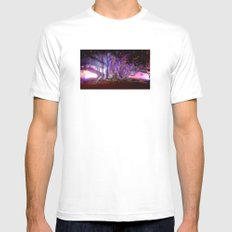 Tree Illuminated Mens Fitted Tee White SMALL