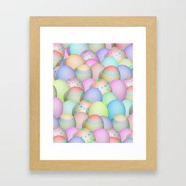 Pastel Colored Easter Eggs Framed Art Print