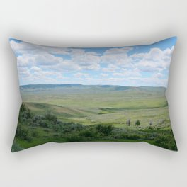 Watercolor Landscape, Fossil Butte 02, Wyoming Rectangular Pillow