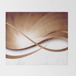 Ruhe - Brauntöne Throw Blanket