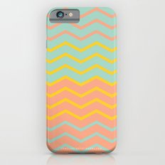 Colorful Chevron on Peach and Mint iPhone 6s Slim Case