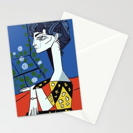 Picasso - Jacqueline with flowers Stationery Cards