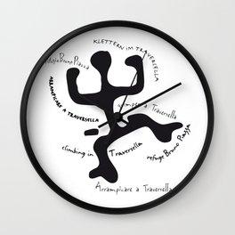 Traversella logo Wall Clock