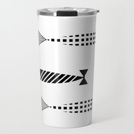 Line of fish Travel Mug