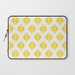 Mid Century Modern Bang Pattern 272 Yellow Laptop Sleeve