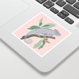 Blue Chameleon Sticker