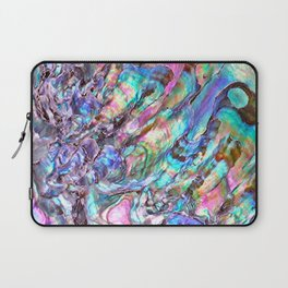Shimmery Rainbow Abalone Mother of Pearl Laptop Sleeve