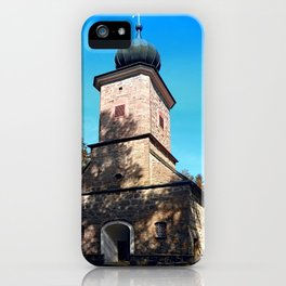 Maria Rast forest chapel | architecture photography iPhone Case