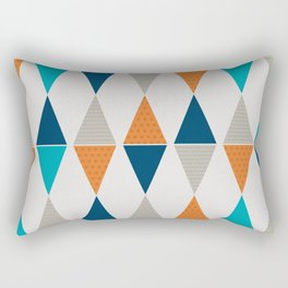 Colorful Triangle Pairs Rectangular Pillow