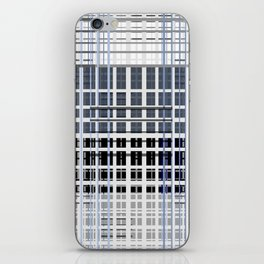 white blue plaid iPhone Skin