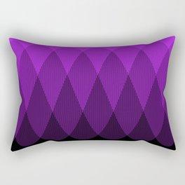 Purple to Black Ombre Signal Rectangular Pillow