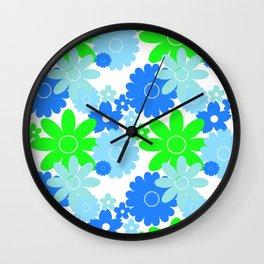 Summer Garden Sky Wall Clock