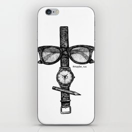 Simple objects iPhone Skin