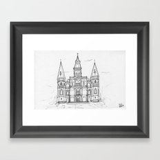 St. Louis Cathedral | New Orleans | Illustration  Framed Art Print