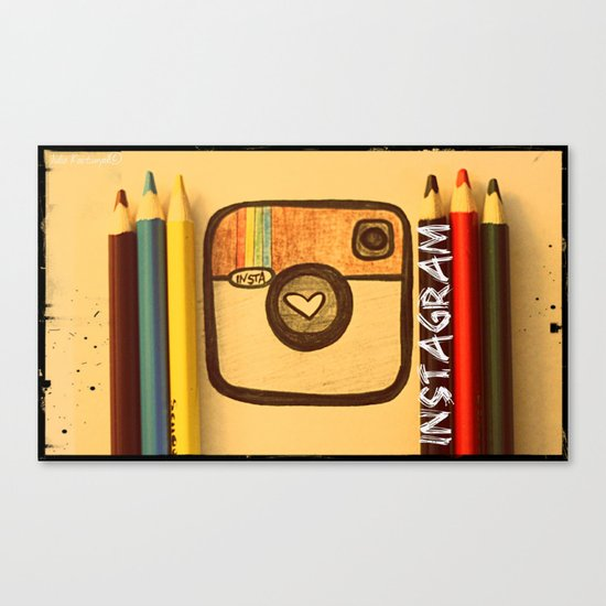 For Instagram Lovers ;) Canvas Print