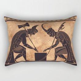 Two Gods Playing a Game Rectangular Pillow