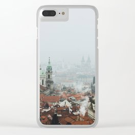 Cold Mornings over Prague Clear iPhone Case