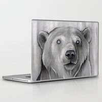 teddy bear Laptop & iPad Skins featuring Teddy Bear by Puddingshades