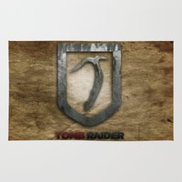 tomb raider Area & Throw Rugs featuring Tomb Raider by Liquidsugar