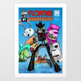 Floating BunnyHead #1 Cover Art Print