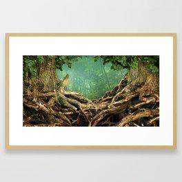 Frame of two trees Framed Art Print