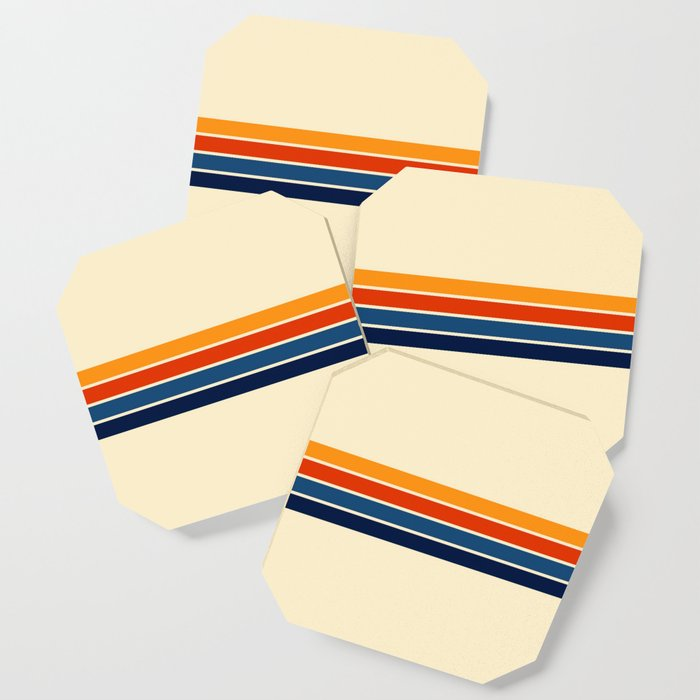 Classic Retro Stripes Coaster