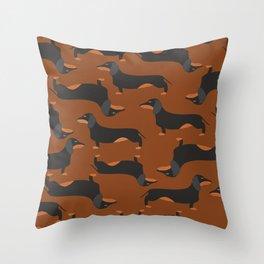 Dachshund, Wiener dog Throw Pillow