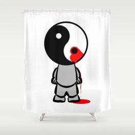 Yin Yang Heart Shower Curtain