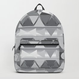 Gray triangle abstract Backpack