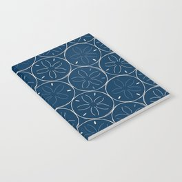 Sanddollar Pattern in Blue Notebook