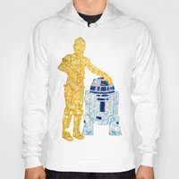 glitter Hoodies featuring Glitter Droids by foreverwars